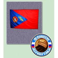 Флаг ЦСКА с орденом Ленина(малый)