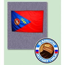 Флаг ЦСКА с орденом Ленина(большой)