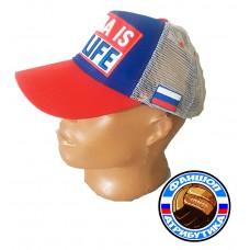 Бейсболка Россия бело-сине-красная РФ моя жизнь
