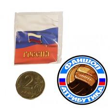Значок флаг России 100